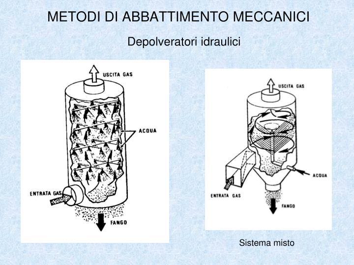 Depolveratori idraulici