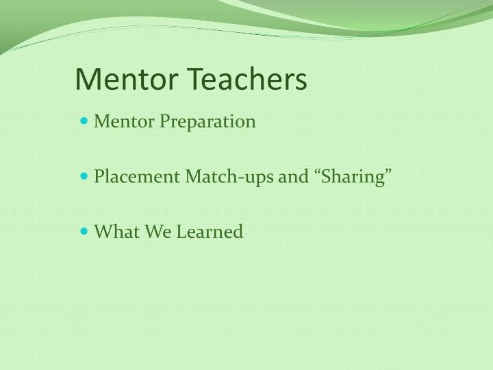 Mentor Teachers