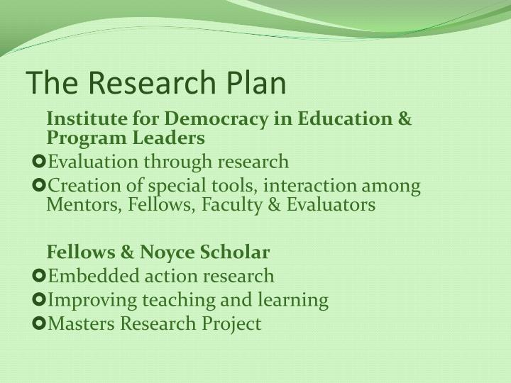 The Research Plan
