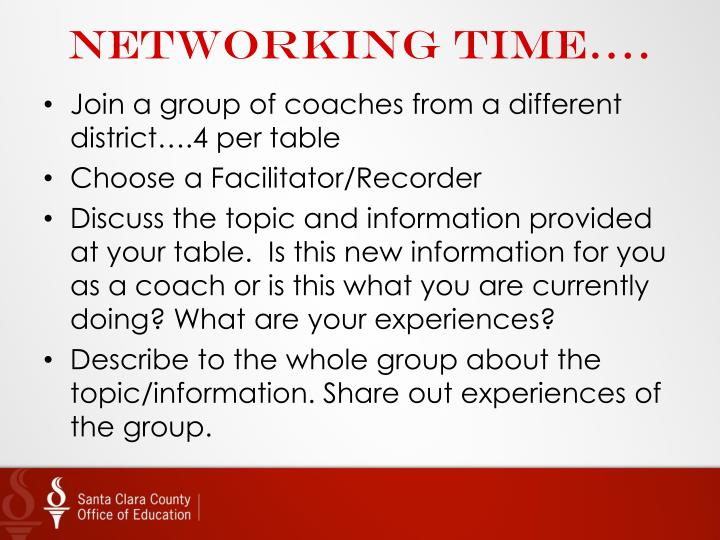Networking time….