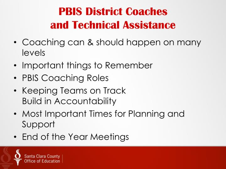 PBIS District Coaches