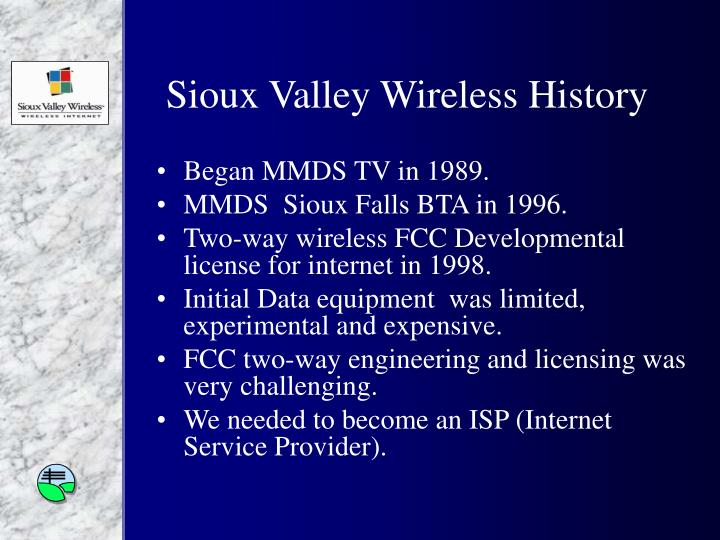 Sioux valley wireless history
