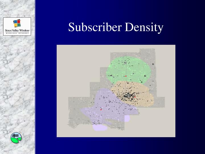Subscriber Density