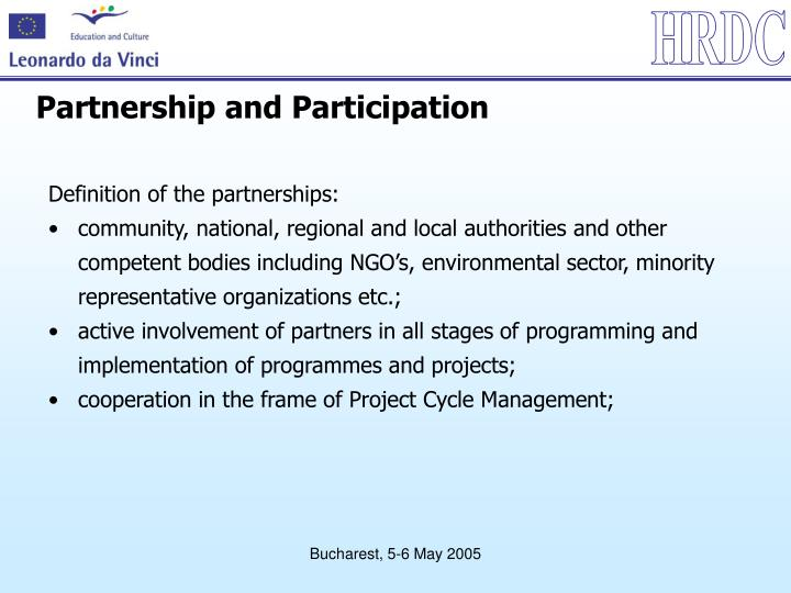 Partnership and Participation