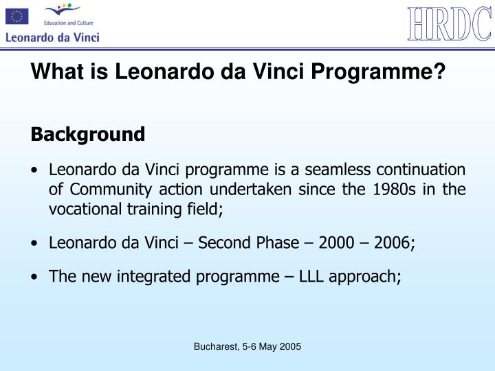 What is leonardo da vinci programme