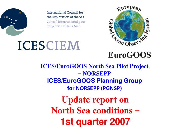 ICES/EuroGOOS North Sea Pilot Project