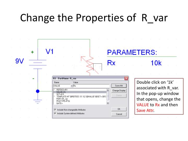 Change the Properties of  R_var