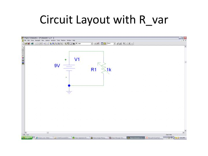 Circuit Layout with R_var