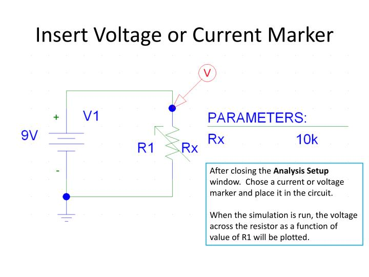 Insert Voltage or Current Marker