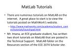 matlab tutorials