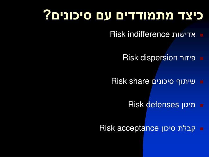 כיצד מתמודדים עם סיכונים?