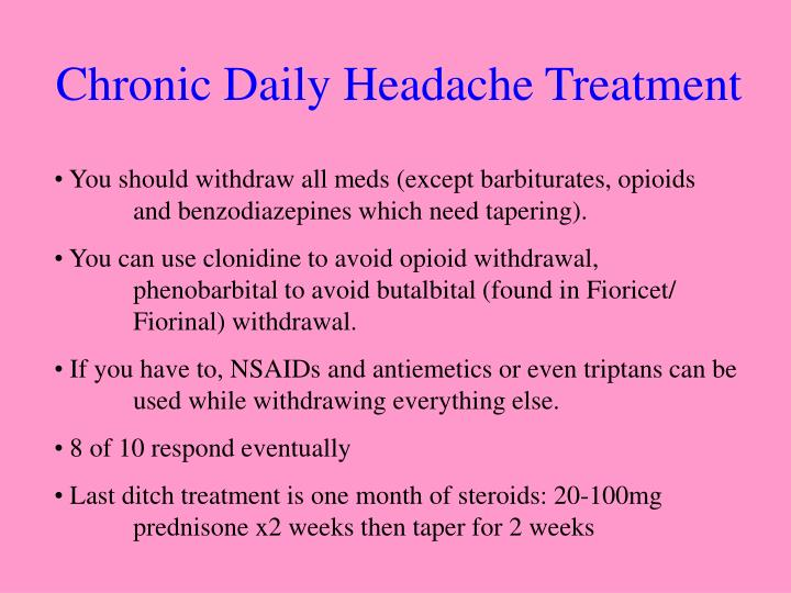 Chronic Daily Headache Treatment