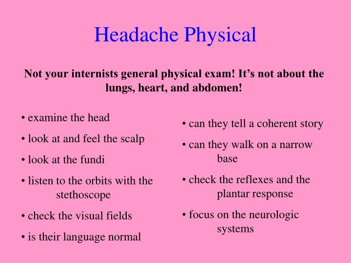 Headache Physical