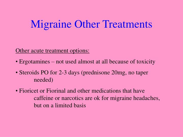 Migraine Other Treatments