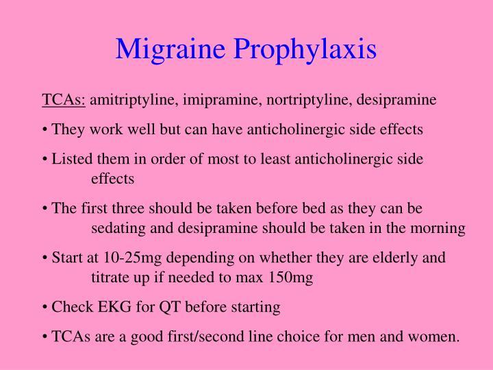 Migraine Prophylaxis