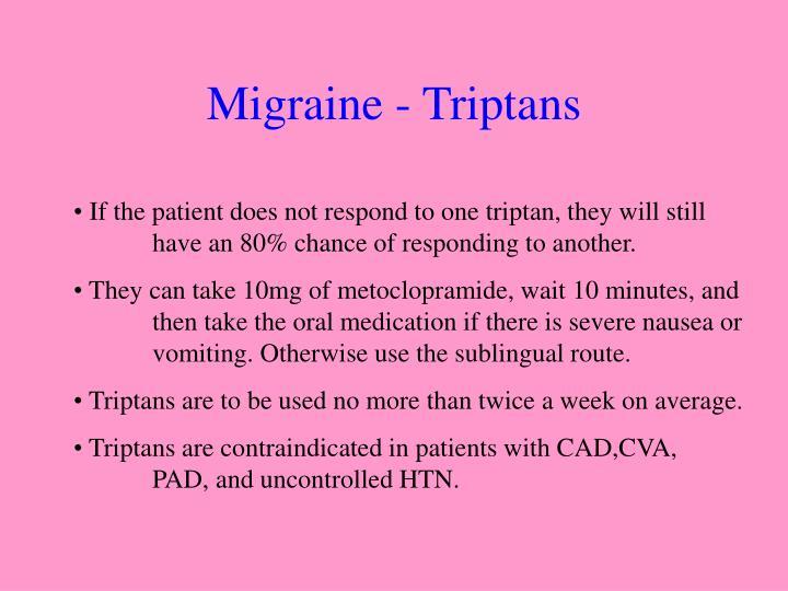 Migraine - Triptans