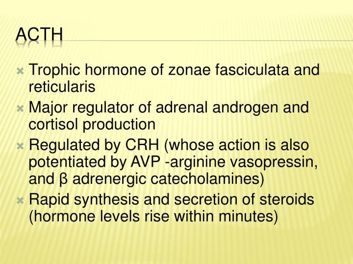 Trophic hormone of zonae fasciculata and reticularis