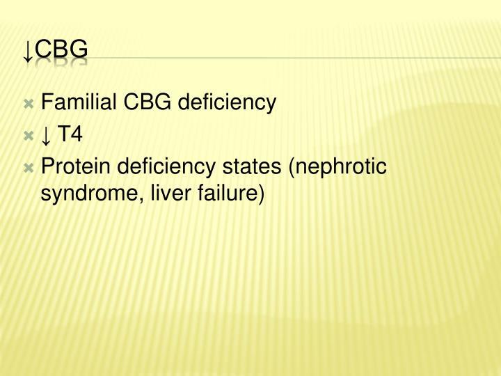 Familial CBG deficiency