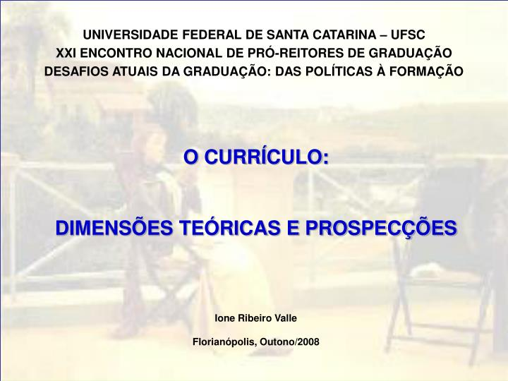 UNIVERSIDADE FEDERAL DE SANTA CATARINA – UFSC