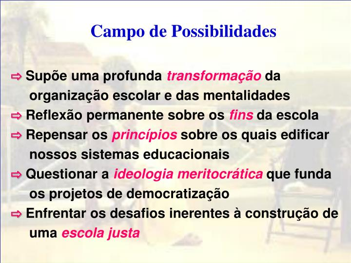 Campo de Possibilidades