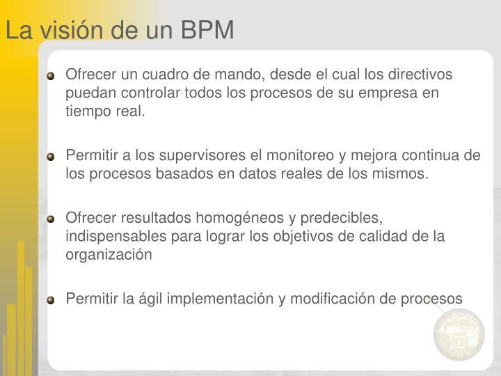 La visión de un BPM