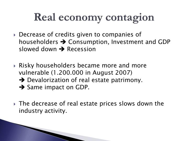 Real economy contagion