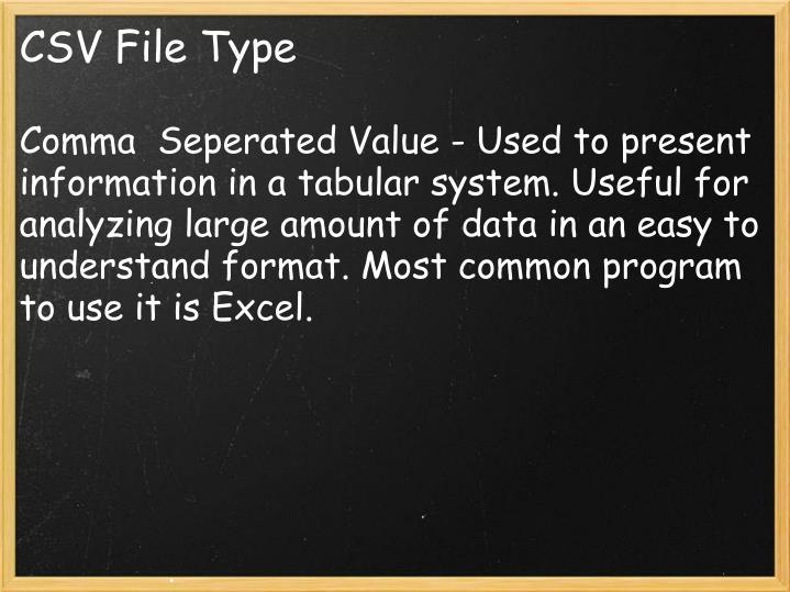 CSV File Type