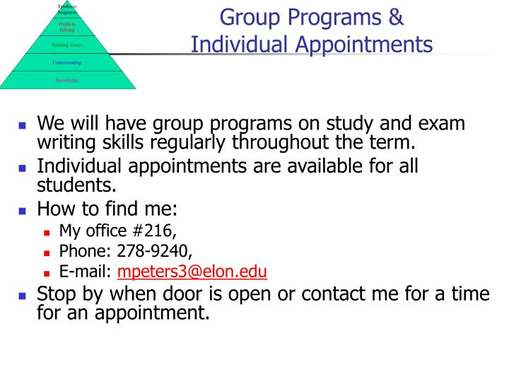Group Programs &