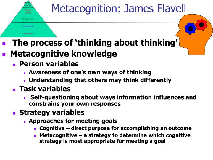 Metacognition james flavell