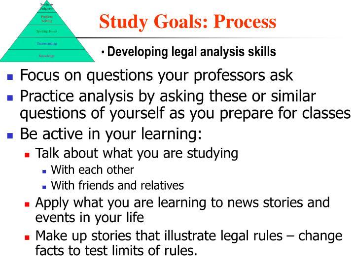 Study Goals: Process