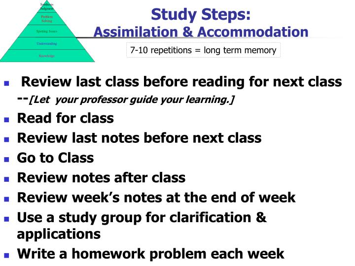 Study Steps: