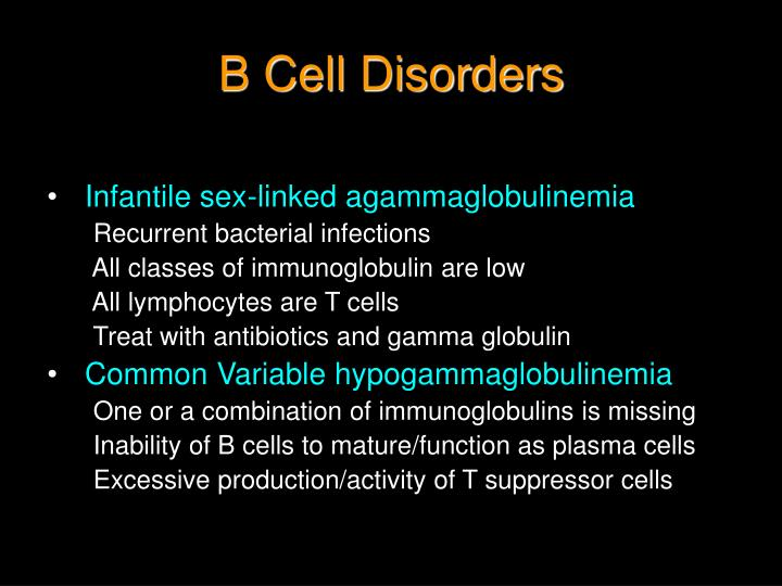 B Cell Disorders