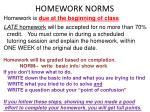 homework norms