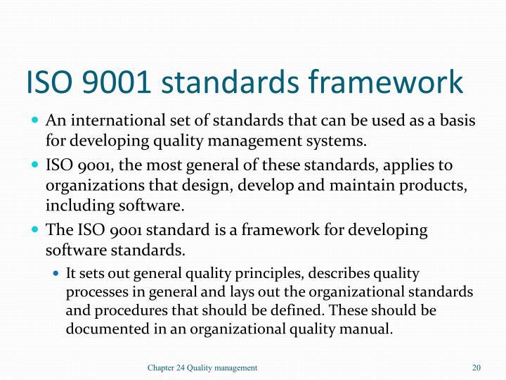 ISO 9001 standards framework