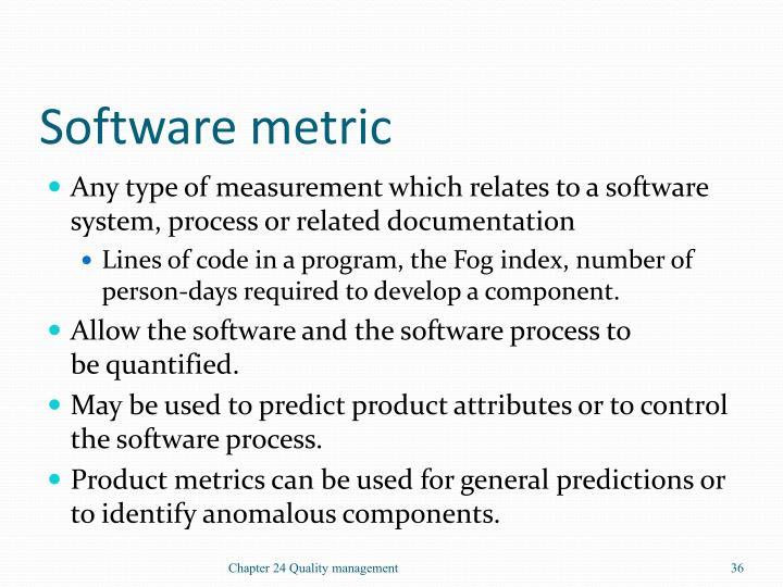 Software metric