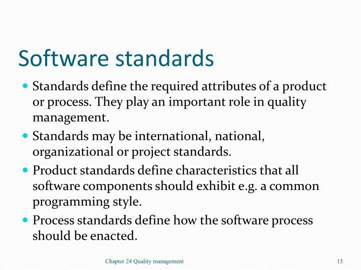 Software standards