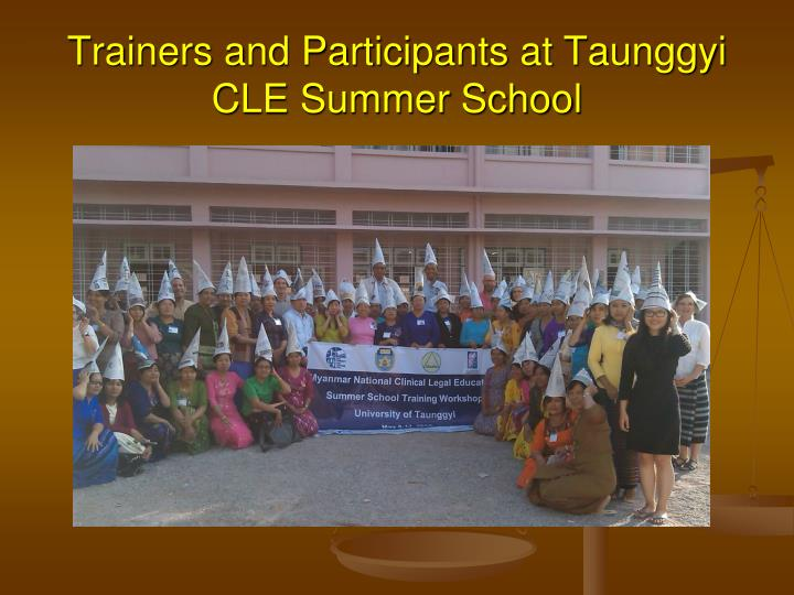 Trainers and Participants at