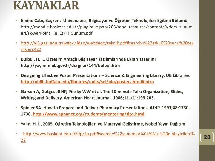 Emine Cabı, Başkent  Üniversitesi, Bilgisayar ve Öğretim Teknolojileri Eğitimi Bölümü,