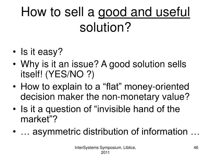 How to sell a
