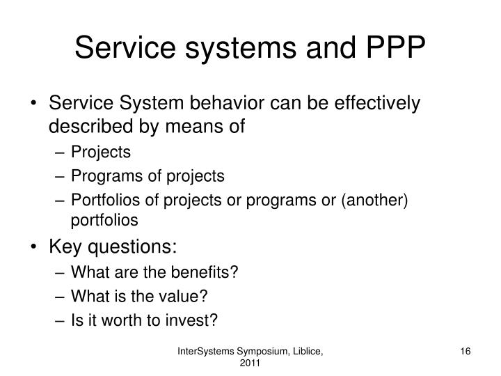 Service systems and PPP