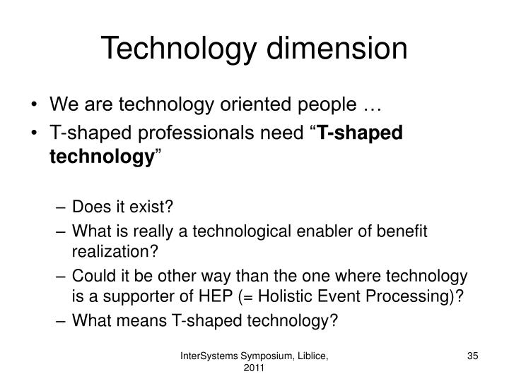 Technology dimension