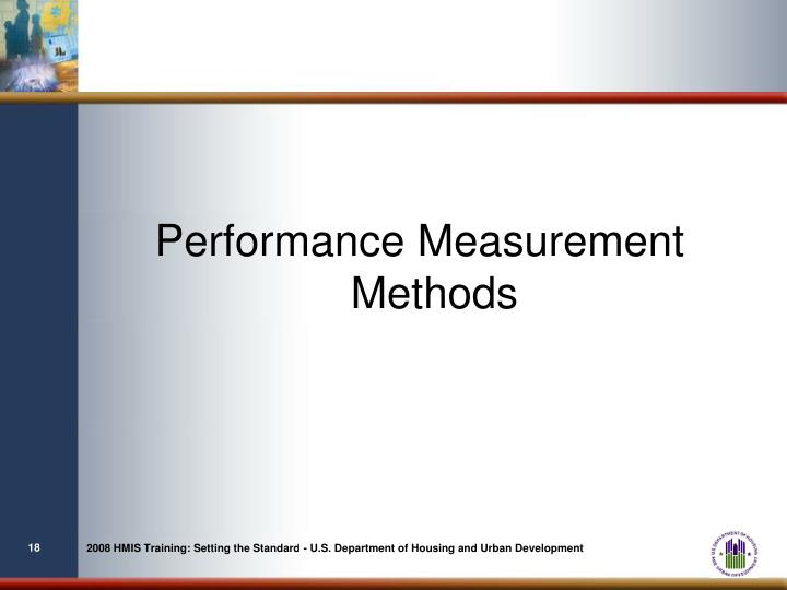 Performance Measurement Methods