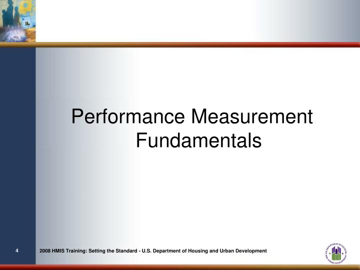 Performance Measurement Fundamentals