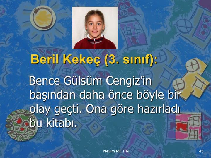 Beril Kekeç (3. sınıf):