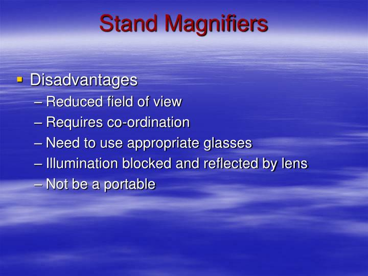 Stand Magnifiers