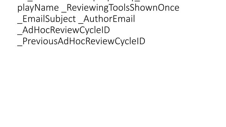 vti_cachedcustomprops:VX|_AuthorEmailDisplayName _ReviewingToolsShownOnce _EmailSubject _AuthorEmail _AdHocReviewCycleID _PreviousAdHocReviewCycleID