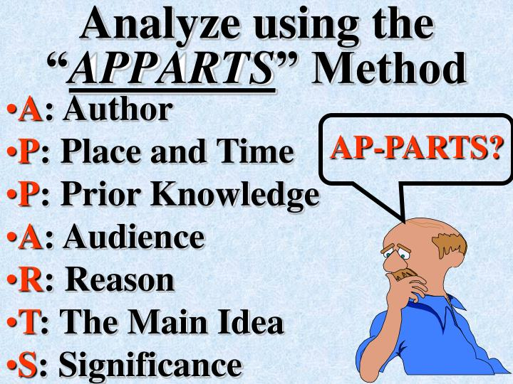 "Analyze using the """