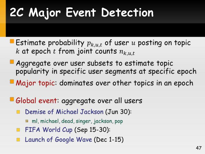 2C Major Event Detection