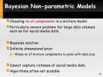 bayesian non parametric models
