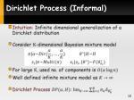 dirichlet process informal